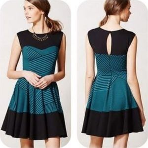 Anthropologie Stripe Swing Dress by Eva Franco